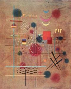 Red in the Net by Kandinsky