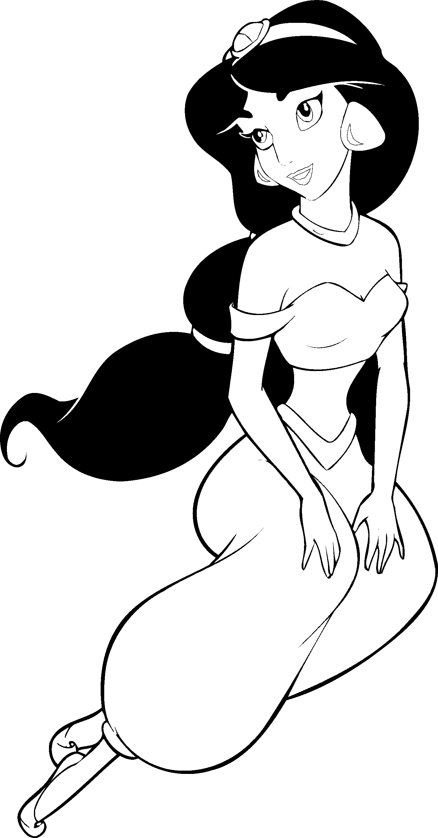 Disney princesses jasmine coloring sylvia 39 s thoughts for Jasmine the princess coloring pages